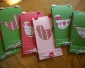 Custom Wedding Favor Journals, Party Favor Journals, 24 Handmade Bird Mini Journals,