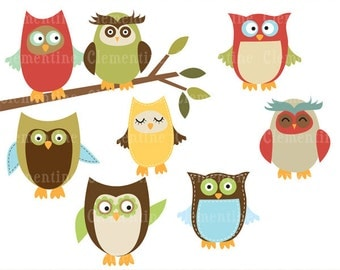 Owl clip art images, owl clipart, royalty free clip art- Instant Download