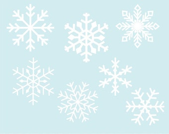 Snowflake clipart, snowflake clip art images and photoshop brushes, commercial use- Instant Download