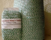 Kelly Green and White Baker's Twine- 100 yards