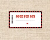 Printable Coupons in Red/Black - Valentine's Present -  Valentines Coupon - Birthday or Anniversary gifts - Love Coupon- Blank Coupons