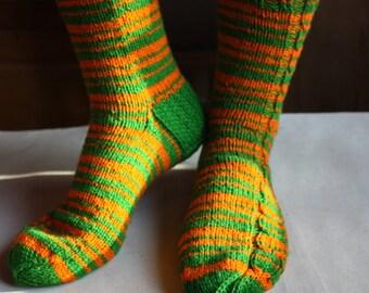 26 cm /// 10,2 inches Lovely hand knitted socks, Slipper Socks, - boot socks - US Men 7 /// US Women 8,5 /// EU 39