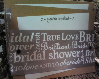Bridal Shower Invitations - Set of 48