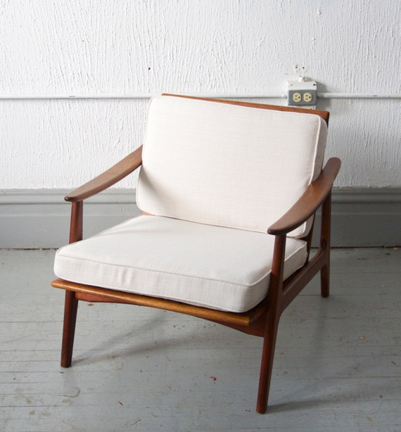 reserved mid century modern danish style lounge chair 50s