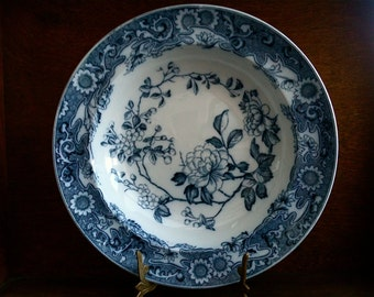 Antique English Blue and White Deep Dinner Plate circa 1910-20's / English Shop