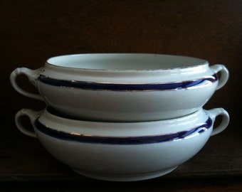 Vintage English Blue and White Terrines / English Shop