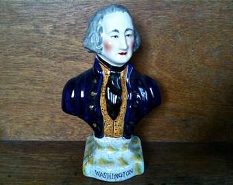 Vintage English Washington Bust Ornament Statue Figurine circa 1950's / English Shop
