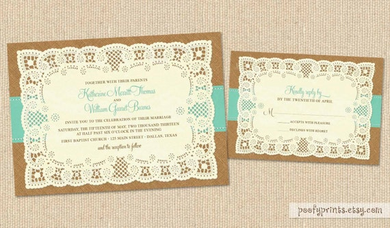 Burlap Wedding Invitations Diy: Unavailable Listing On Etsy