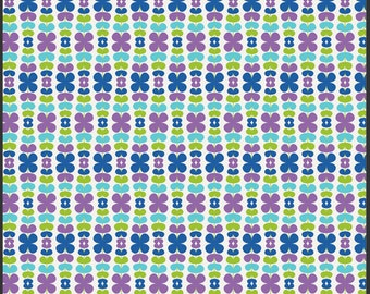 SALE 1 Yard Color Me Retro Kitchenette Blueberry by Jeni Baker for Art Gallery Fabrics