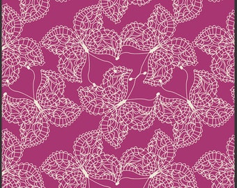 1 Yard of Bijoux Mystic Traveler Magenta by Bari J for Art Gallery Fabrics