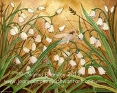 Lilly of the Valley - 8x10 archival print, 8x10, whimsical flower fairy fantasy watercolour illustration