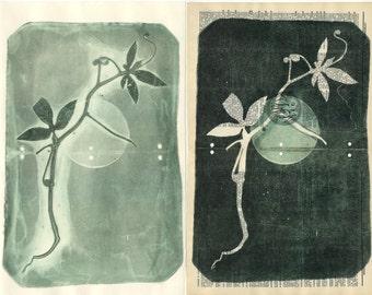 Set of two monoprints.