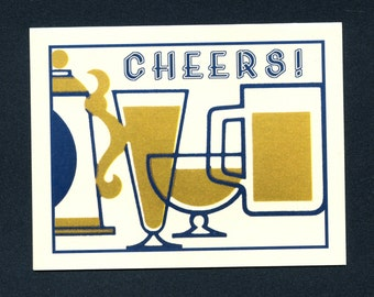 CHEERS TO YOU - Congratulations Card - Congrats Card - Graduation Card - Cheers - Graduation - Congrats Grad - Beer - Congrats - Item# C013