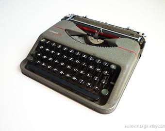 Vintage Hermes Baby Typewriter 50s Portable Rocket