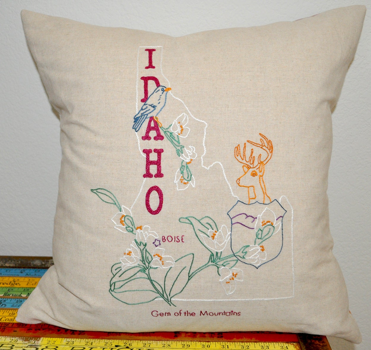 Idaho hand embroidery pattern iron on transfer state