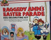 Raggedy Ann's Easter Parade Egg Decorating Kit, in the original box, Macmillan Inc., Treasury Item