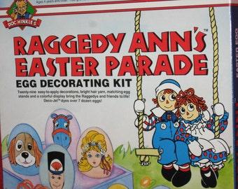Raggedy Ann's Easter Parade Egg Decorating Kit, in the original box, Macmillan Inc., Treasury Item