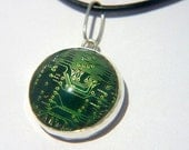 Circuit Board Pendant in Sterling Silver