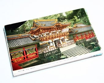 25 Vintage Japan Color Postcards Blank - Wedding Guestbook