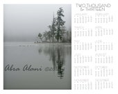 SALE 2013 Calendar Ominous Reflections 11x14, Fog, Gray, Reflection, Gloom