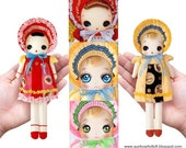 Pattern: Bunka Doll w/ 3 Face Decals