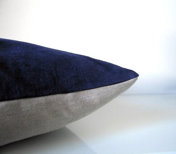 Items Similar To Blue Velvet Throw Pillow Cobalt Or Navy
