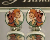 Scooby Doo Cartoon Nostaligia Stud Earrings