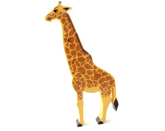 Giraffe Puzzle and Children's Room Decoration
