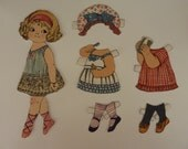 Vintage Cloth Paper Doll Set with Outfits Windham Fabrics
