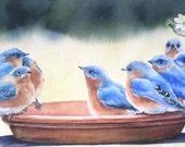 "Original painting, "" Blue Board Meeting"" ,"
