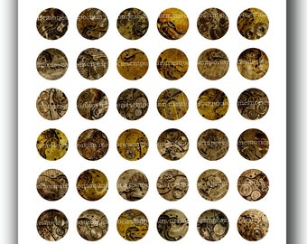 Steampunk Watches Inchies One Inch Circles 1 Pocket Gears Movements Steam Punk Victorian Bottle Jewelry Bezels Digital Collage Sheet 327