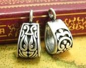 20 pcs Pendant Bails Nickel Free Antique Silver Necklace Clasps CH1425