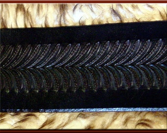 BLACK SNAKEBACK Design • A Beautifully Hand Tooled, Hand Crafted Leather Guitar Strap