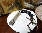 Team Bicycle Chain Key Chain Hand Stamped Personlized - KETEXT01