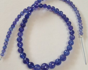 Tanzanite Faceted Rounds-Graduated