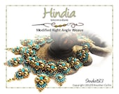 Beading Pattern Right Angle Weave Bollywood Necklace Tutorial HINDIA