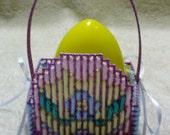 Purple Plastic Canvas Egg Easter Basket