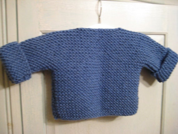 French Baby Knitting Patterns : Bebeknits Simple French Style Baby Cardigan Knitting Pattern from bebeknits o...