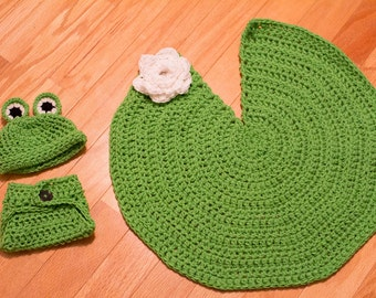 Frog and Lily Pad Photography Prop
