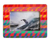 Boho Multicolor Painted Picture Frame