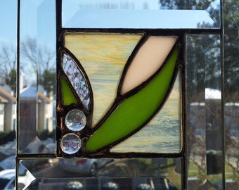 Water Lily - Stained Glass Panel