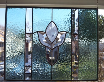 Victorian Beveled Stained Glass Panel