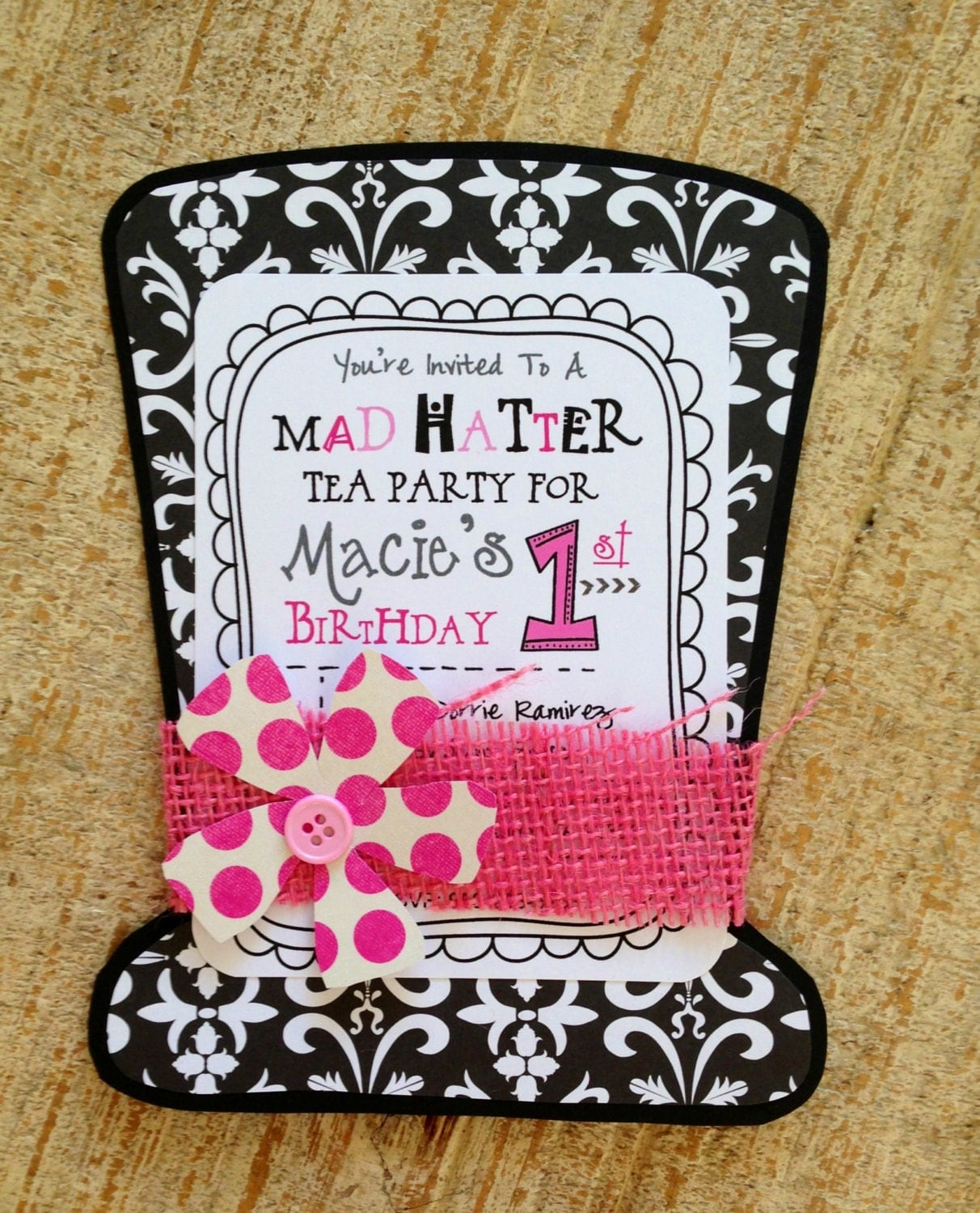 mad hatter tea party invitation by jodigilbert2004 on etsy