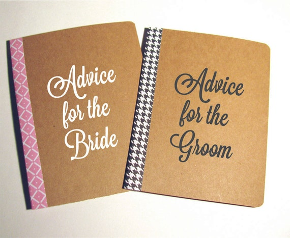 Advice For The Bride And Groom Notebooks Guest Book