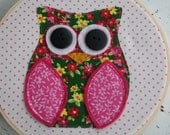 Litte Owl - Handmade Embroidery Hoop wall art