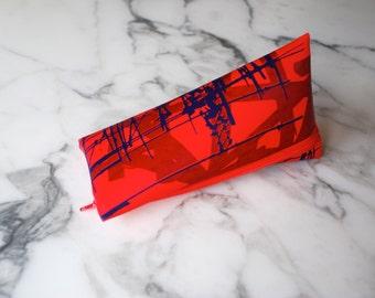 screenprinted mountain pouch
