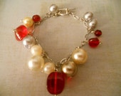 Big and Beautiful Love Bracelet - Bold and Striking Glass Beads and Pearls