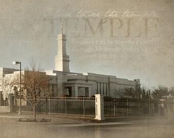 Monticello, Utah LDS Temple Print 16x20