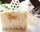 GOATS MILK & HONEY Soap, Goats Milk-Honey with Calendula Petals or Choose no Calendula Petals, Scented in Oatmeal Milk and Wild Honey
