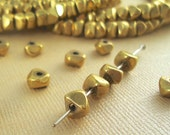 20 Brass Beads Nugget Chips 6mm Heishi Disc Metal Spacer  BOHO Faceted Quality Brass Natural Beads